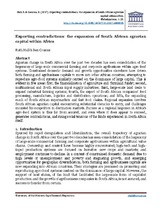 Exporting contradictions: the expansion of South African