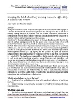 Mapping the field of military nursing research 1990–2013: A
